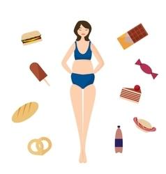 Full girl Bad habits vector image vector image