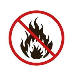 No fire forbidden sign on white vector image vector image
