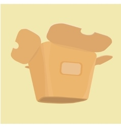 The layout of the carton for food vector image