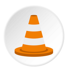 traffic cone icon circle vector image