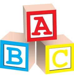 Alphabet Blocks vector image