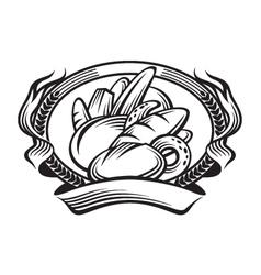 bread banner vector image vector image