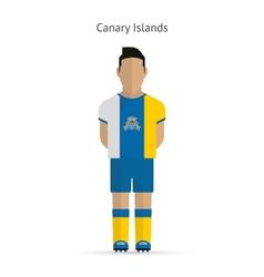 Canary Islands football player Soccer uniform vector image vector image