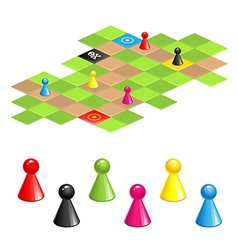 game field vector image vector image