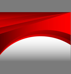 red and gray abstract waves background vector image vector image