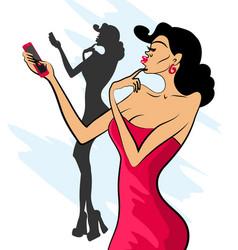 selfiewoman3 vector image vector image