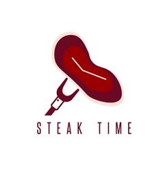 steak time concept restaurant design template vector image vector image