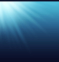 sun rays beams shining true the blue water vector image vector image