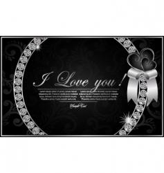 valentines diamond card vector image vector image