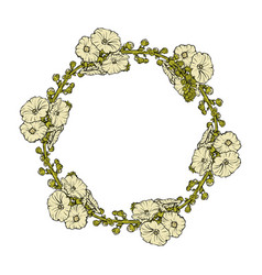 a floral wreath isolated vector image