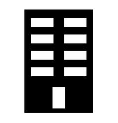 building the black color icon vector image