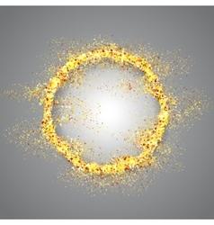 Golden frame on gray background vector image vector image
