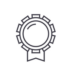good award line icon sign on vector image