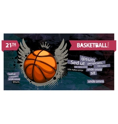 grunge basketball vector image vector image