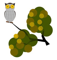 owl on a branch vector image