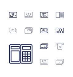 13 debit icons vector