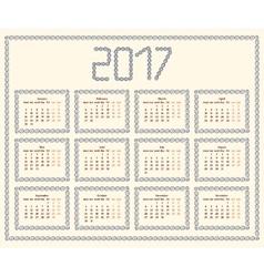 2017 year calendar templateColorful decorative vector