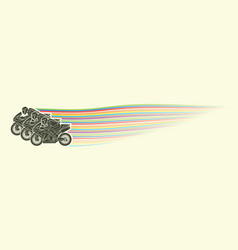 3 motorcycle racing team side view graphic vector