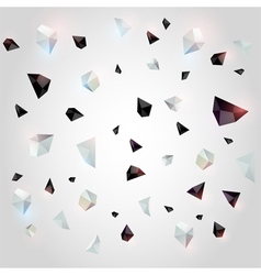 Abstract geometric background with crystals vector image