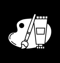 Arts and craft dark mode glyph icon vector