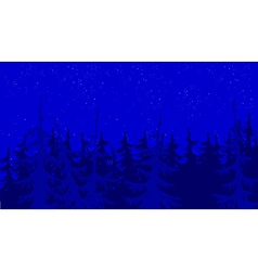 background blue forest vector image