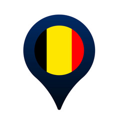 Belgium flag and map pointer icon national flag vector