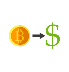Bitcoin currency exchange vector