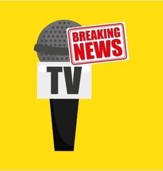 Breaking news concept icon vector