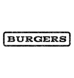 Burgers watermark stamp vector