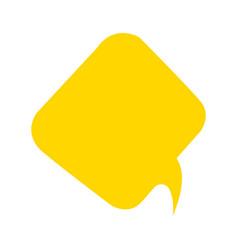 cartoon speech bubble icon vector image