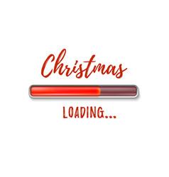 christmas loading abstract design vector image