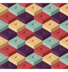 Color cubes pattern vector image