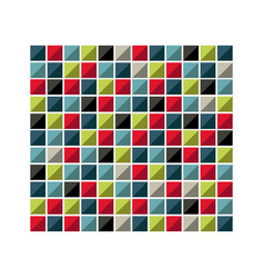 Colores square background icon vector