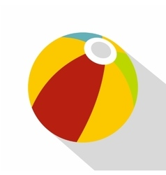 Colorful ball icon flat style vector image