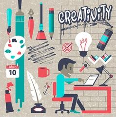 Concepts for big idea and creativity vector