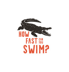 Crocodile logo template symbol of alligator vector
