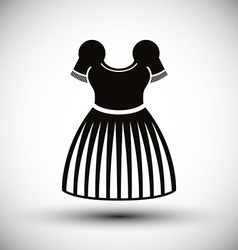 Dress icon vector