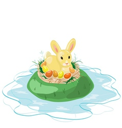 Easter Bunny on the Island vector