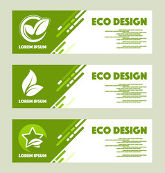 Eco design abstract design web banner vector