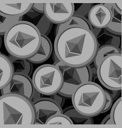 etherium seamless pattern cryptocurrency vector image