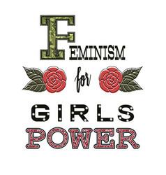 feminism for girls power fashion slogan vector image