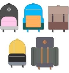 Flat backpacks vector image