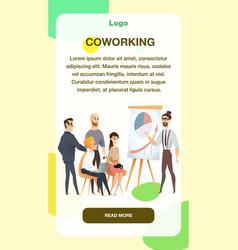Freelancer make presentation in coworking space vector