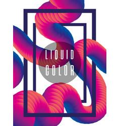 Futuristic liquid worm poster vector