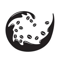 graphic coffee bean vector image