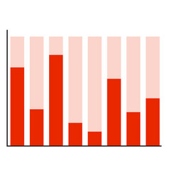 Graphic with red color bars vector