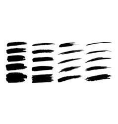 hand drawn grunge brush smears set vector image
