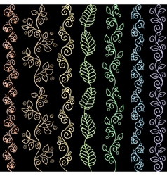 Hand drawn zentangle seamless patterns vector image