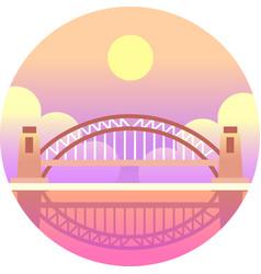 harbour bridge gradient vector image