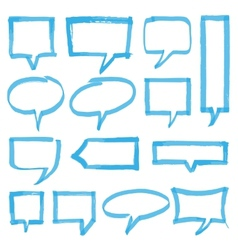 Highlighter Speech Bubbles Design Elements vector image